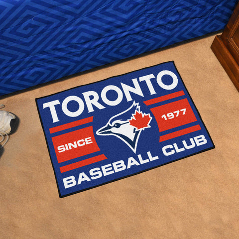 "Toronto Blue Jays Baseball Club Starter Rug 19""x30"""