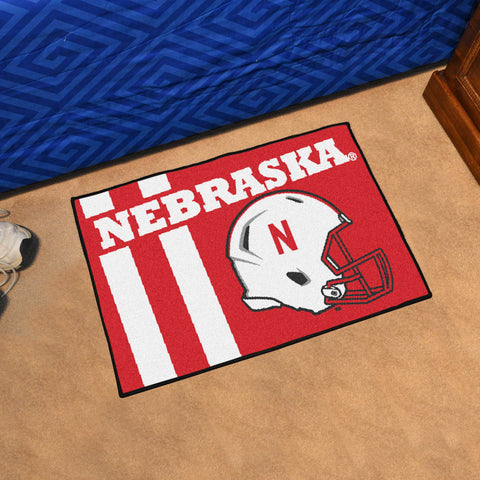 "Nebraska Uniform Starter Rug 19""x30"""
