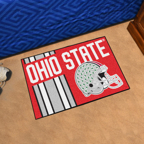 "Ohio State Uniform Starter Rug 19""x30"""