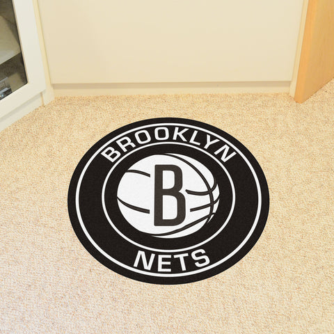 "NBA - Brooklyn Nets Roundel Mat 27"" diameter"
