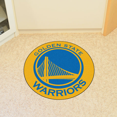 "NBA - Golden State Warriors Roundel Mat 27"" diameter"