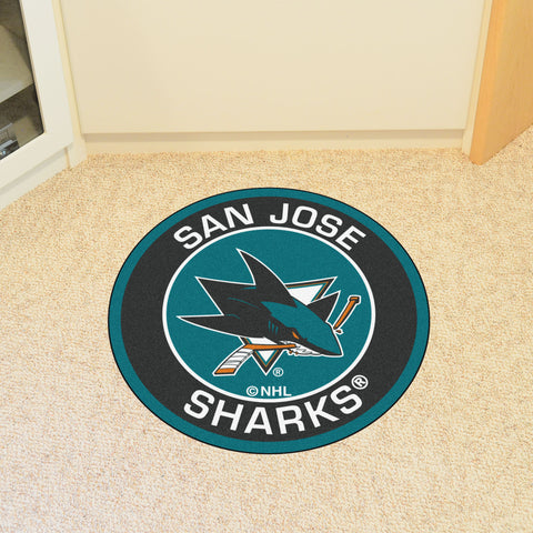 "NHL - San Jose Sharks Roundel Mat 27"" diameter"