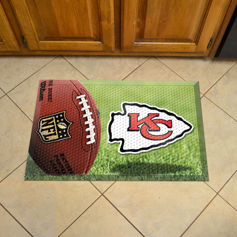 "NFL   Kansas City Chiefs Scraper Mat 19""x30"""