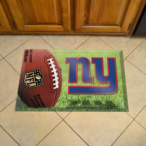 "NFL   New York Giants Scraper Mat 19""x30"""