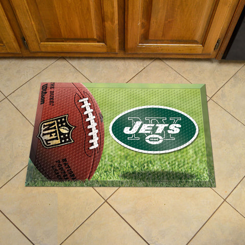 "NFL   New York Jets Scraper Mat 19""x30"""