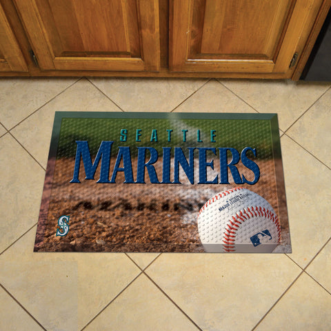 "MLB   Seattle Mariners Scraper Mat 19""x30"""