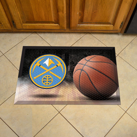 "NBA - Denver Nuggets Scraper Mat 19""x30"" - Ball"