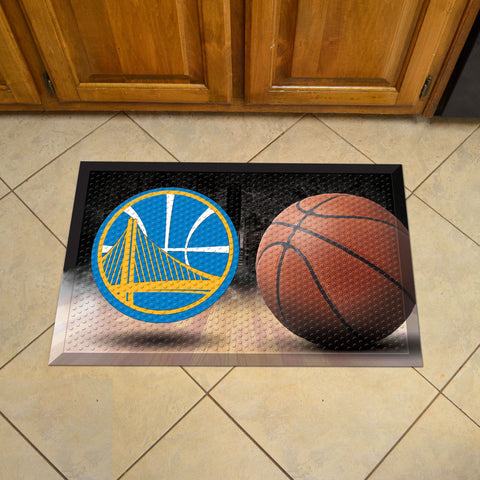 "NBA - Golden State Warriors Scraper Mat 19""x30"" - Ball"