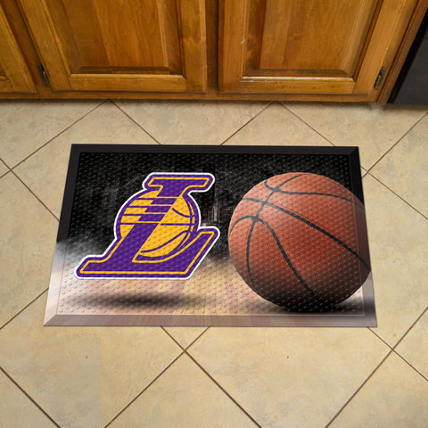 "NBA - Los Angeles Lakers Scraper Mat 19""x30"" - Ball"