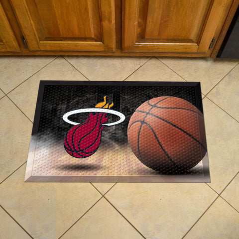 "NBA - Miami Heat Scraper Mat 19""x30"" - Ball"