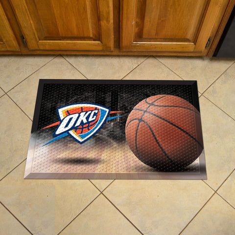 "NBA - Oklahoma City Thunder Scraper Mat 19""x30"" - Ball"