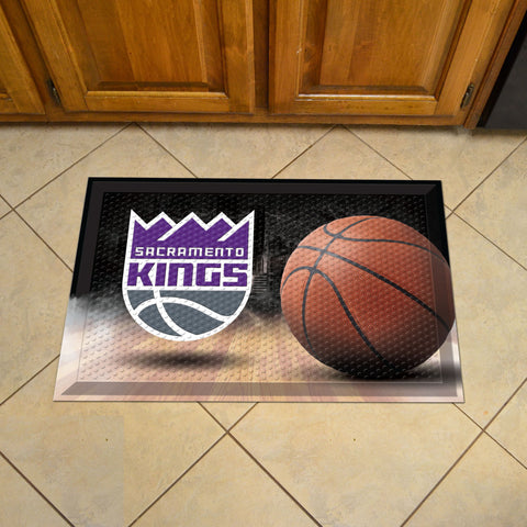 "NBA - Sacramento Kings Scraper Mat 19""x30"" - Ball"
