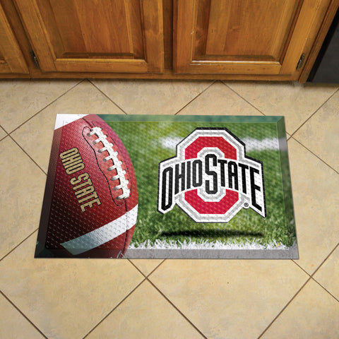 "Ohio State Scraper Mat 19""x30"" - Ball"
