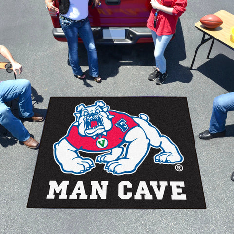 Fresno State Man Cave UltiMat 5'x8' Rug - black