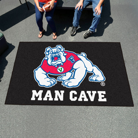 Fresno State Man Cave Tailgater Rug 5'x6' - black