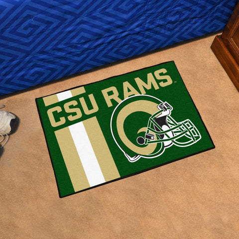 "Colorado State Uniform Starter Rug 19""x30"""
