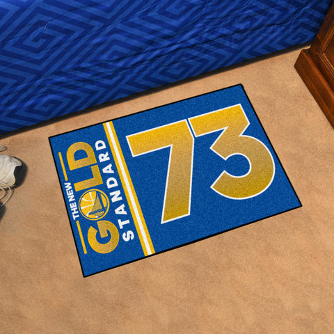 "NBA - Warriors 73 Starter Rug 19""x30"""