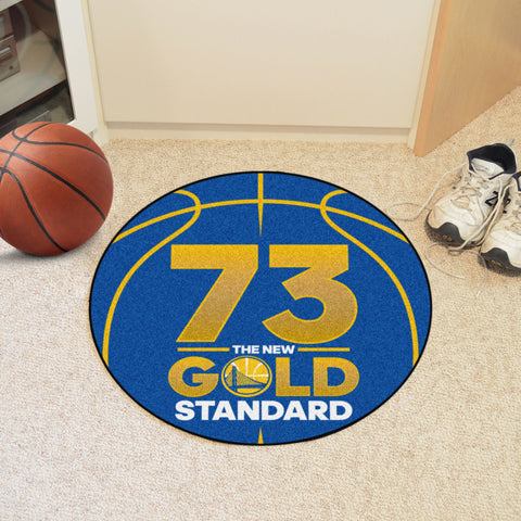 "NBA - Warriors 73 Basketball Mat 27"" diameter"