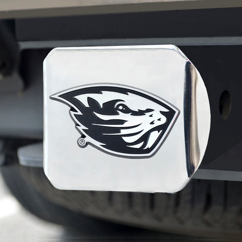 "Oregon State University Chrome Hitch Cover 4 1/2""x3 3/8"""