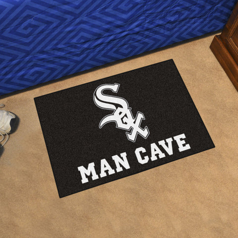 "MLB - Chicago White Sox Man Cave Starter Rug 19""x30"""