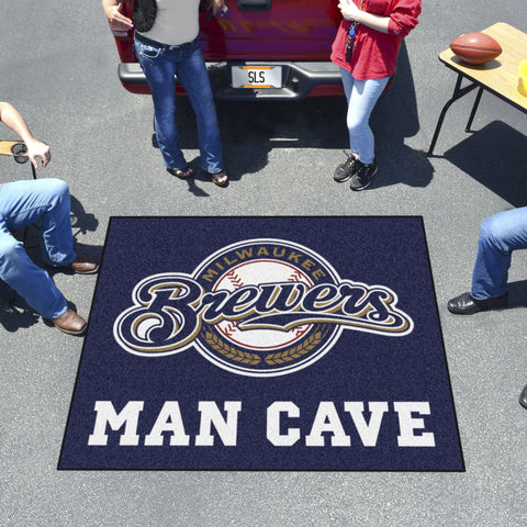 MLB - Milwaukee Brewers Man Cave Tailgater Rug 5'x6'