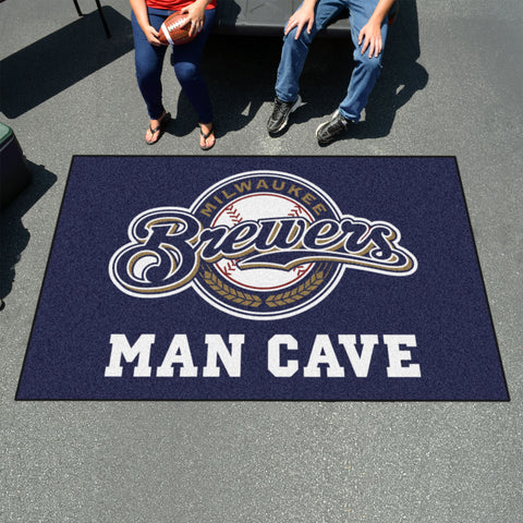 MLB - Milwaukee Brewers Man Cave UltiMat 5'x8' Rug