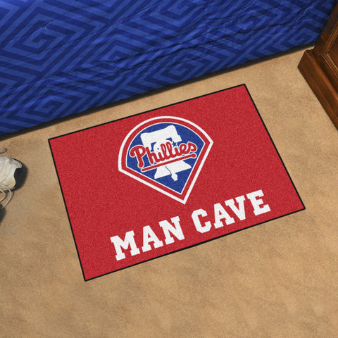 "MLB - Philadelphia Phillies Man Cave Starter Rug 19""x30"""