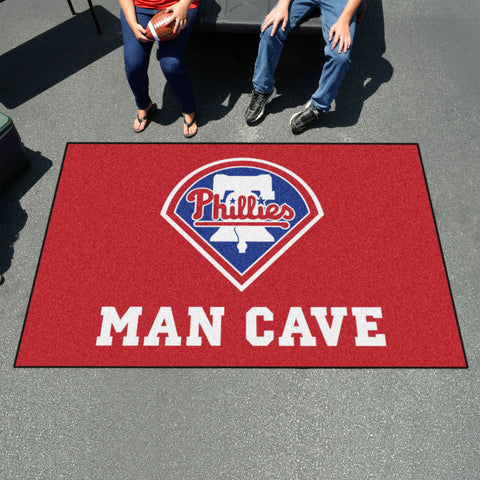 MLB - Philadelphia Phillies Man Cave UltiMat 5'x8' Rug