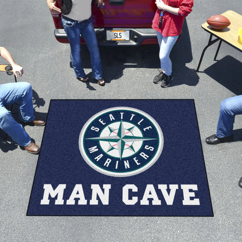 MLB - Seattle Mariners Man Cave Tailgater Rug 5'x6'