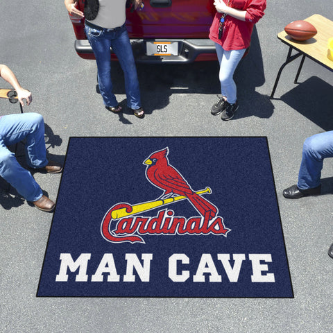 MLB - St. louis Cardinals Man Cave Tailgater Rug 5'x6'
