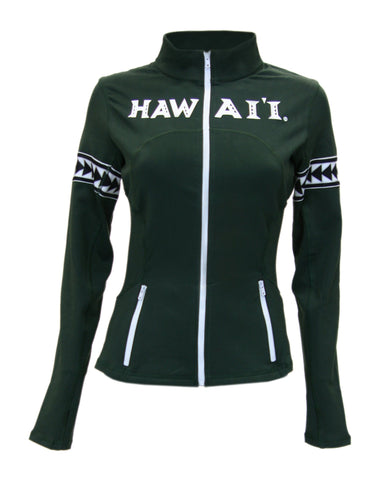 Hawaii Rainbow Warriors Triangle Womens Yoga Jacket