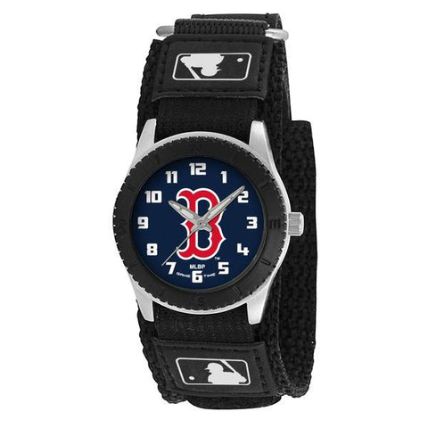 Boston Red Sox B Logo Unisex Quartz Analog Silver Round Case Black Strap 30Mm Rookie Black