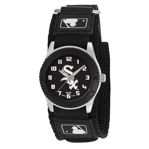 Chicago White Sox Unisex Quartz Analog Silver Round Case Black Strap 30Mm Rookie Black