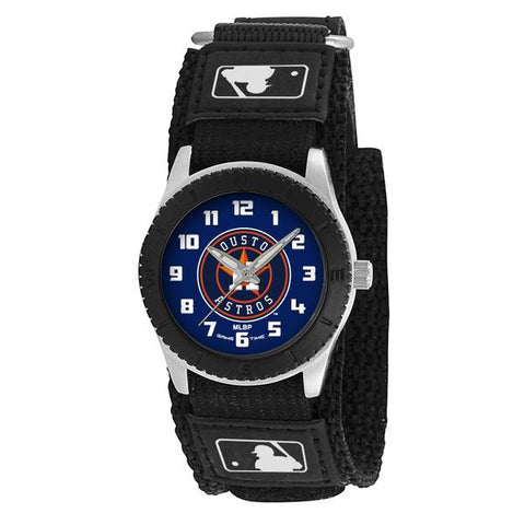 Houston Astros Unisex Quartz Analog Silver Round Case Black Strap 30Mm Rookie Black