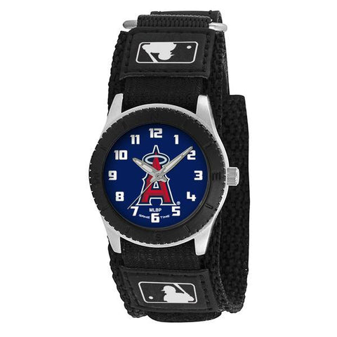 Los Angeles Angels Unisex Quartz Analog Silver Round Case Black Strap 30Mm Rookie Black
