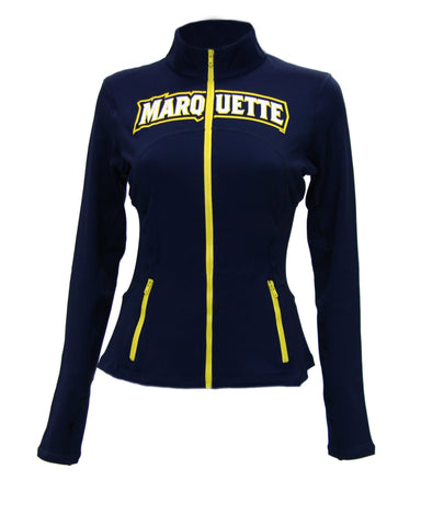 Marquette Golden Eagles Womens Yoga Jacket (Navy Blue)
