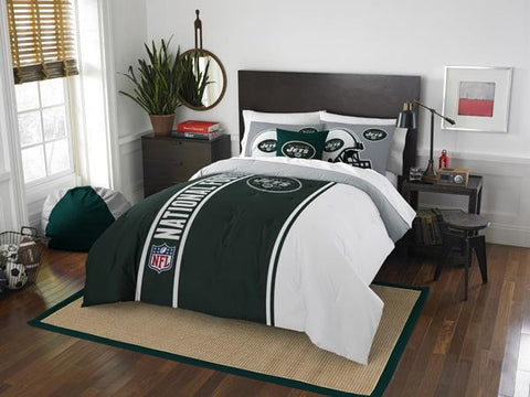 New York Jets NFL Full Comforter and 2 Shams
