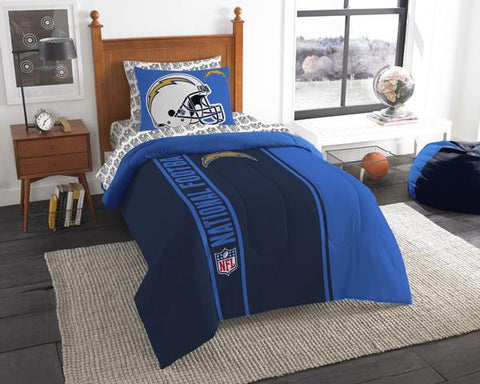 Los Angeles Chargers Twin Comforter Set - Bed in A Bag
