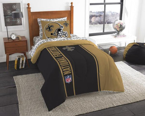 New Orleans Saints Twin Comforter Set - Bed in A Bag