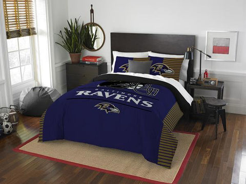 Baltimore Ravens NFL Draft Full/Queen Comforter & Shams Set