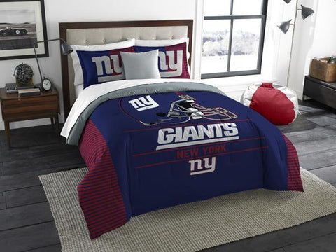 "New York Giants NFL ""Draft"" King Comforter & Sham Set"