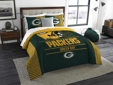"Green Bay Packers NFL ""Draft"" King Comforter & Sham Set"