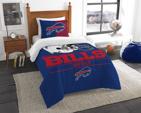 Buffalo Bills NFL Draft Twin Comforter & Sham Set