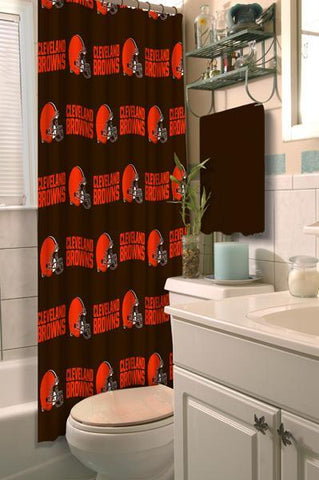 "Cleveland Browns NFL 72""x 72"" Shower Curtain"