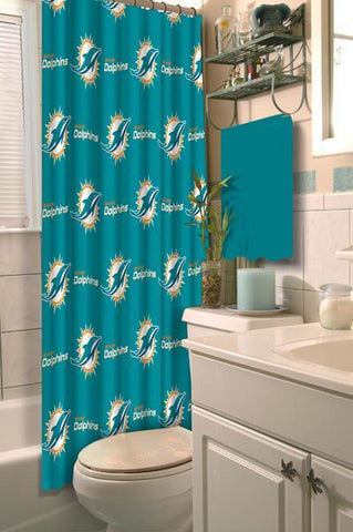 "Miami Dolphins NFL 72""x 72"" Shower Curtain"