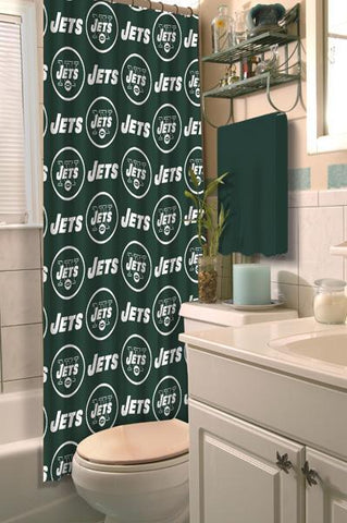 "New York Jets NFL 72""x 72"" Shower Curtain"