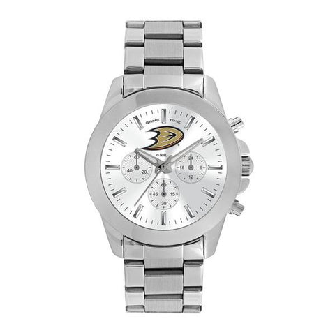 Anaheim Ducks Ladies Quartz Analog Silver Round Case Silver Bracelet 39Mm Knockout