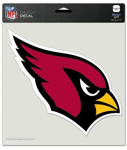 "Arizona Cardinals Die-Cut Decal - 8""x8"" Color"