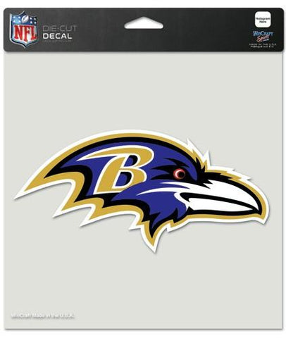 "Baltimore Ravens Die-Cut Decal - 8""x8"" Color"