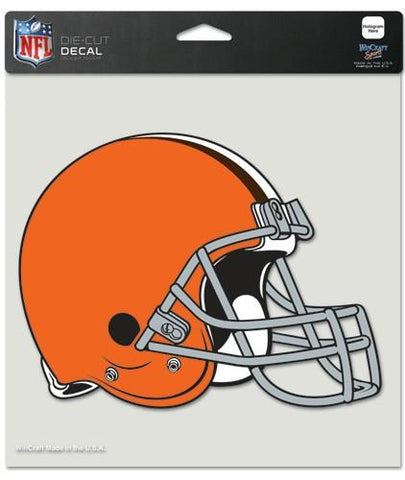 "Cleveland Browns Die-Cut Decal - 8""x8"" Color"